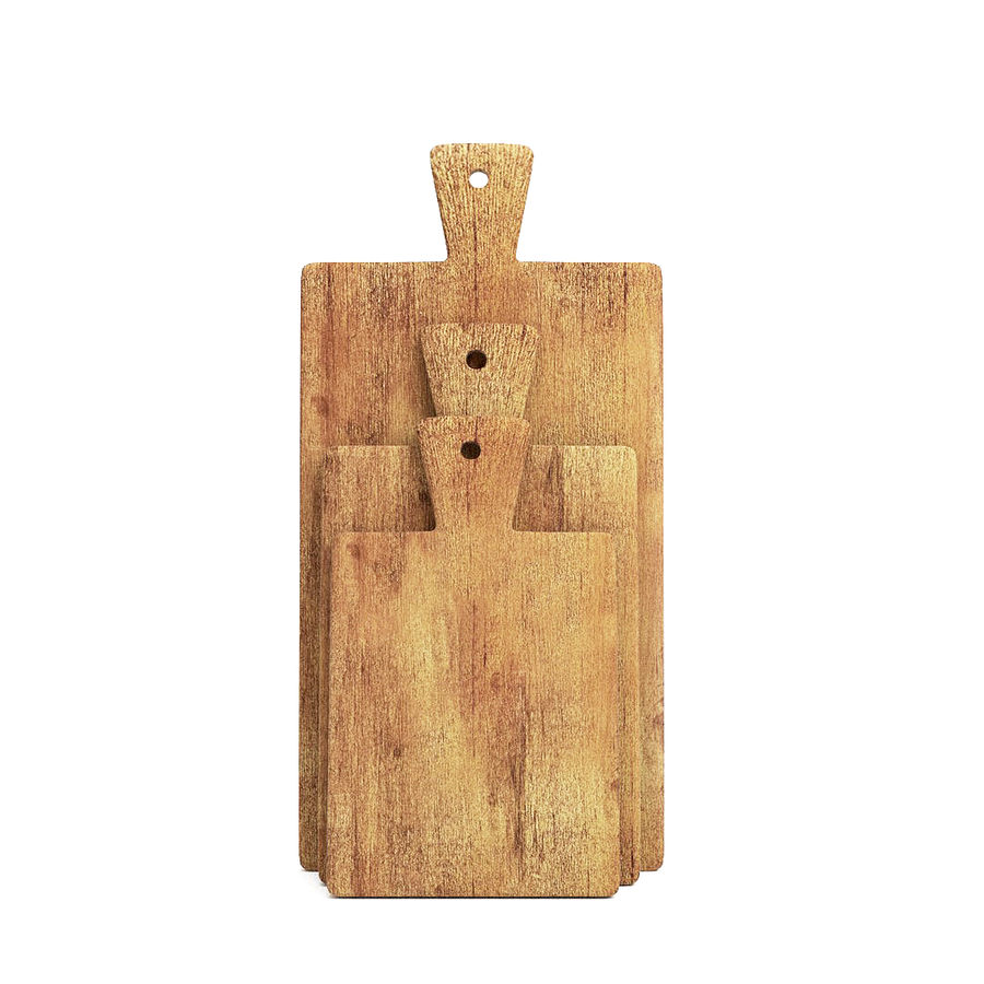 Wooden Cutting Board Collection - Set of 8 Different Models royalty-free 3d model - Preview no. 4