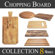 Wooden Cutting Board Collection - Set of 8 Different Models 3d model