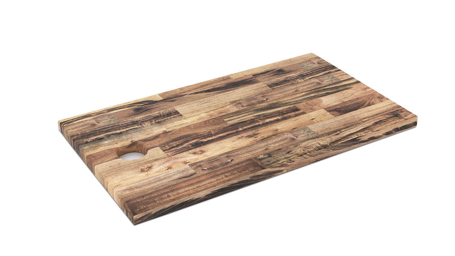 Wooden Cutting Board Collection - Set of 8 Different Models royalty-free 3d model - Preview no. 8