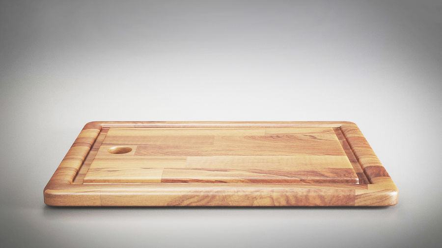 Wooden Cutting Board Collection - Set of 8 Different Models royalty-free 3d model - Preview no. 10