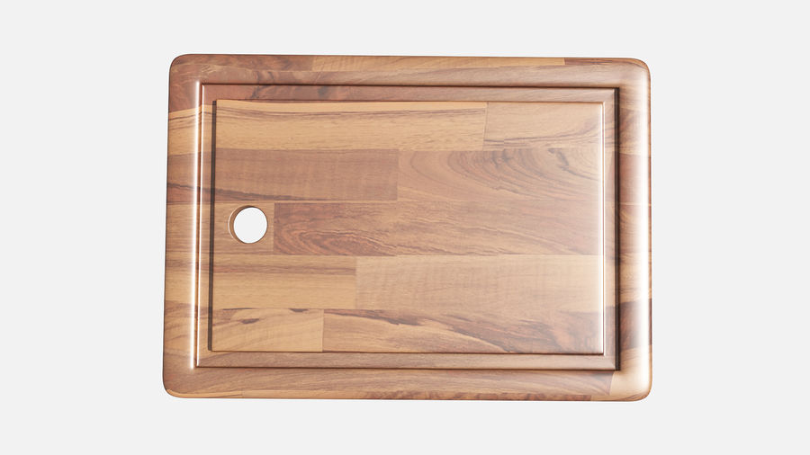 Wooden Cutting Board Collection - Set of 8 Different Models royalty-free 3d model - Preview no. 11