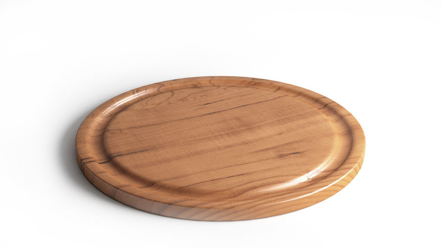 Wooden Cutting Board Collection - Set of 8 Different Models royalty-free 3d model - Preview no. 3