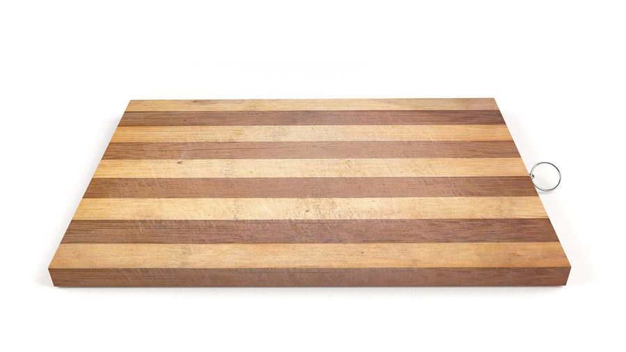 Wooden Cutting Board Collection - Set of 8 Different Models royalty-free 3d model - Preview no. 9