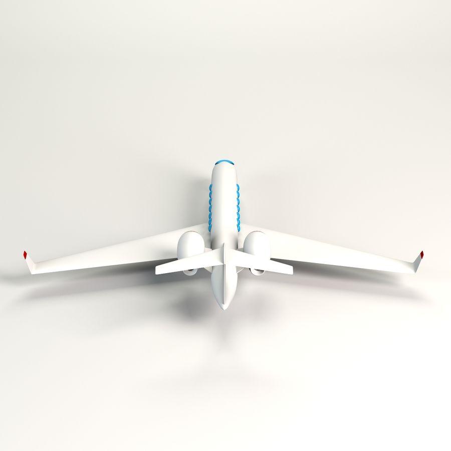 Aereo jet privato dei cartoni animati modello 3d $9 .obj .max .fbx