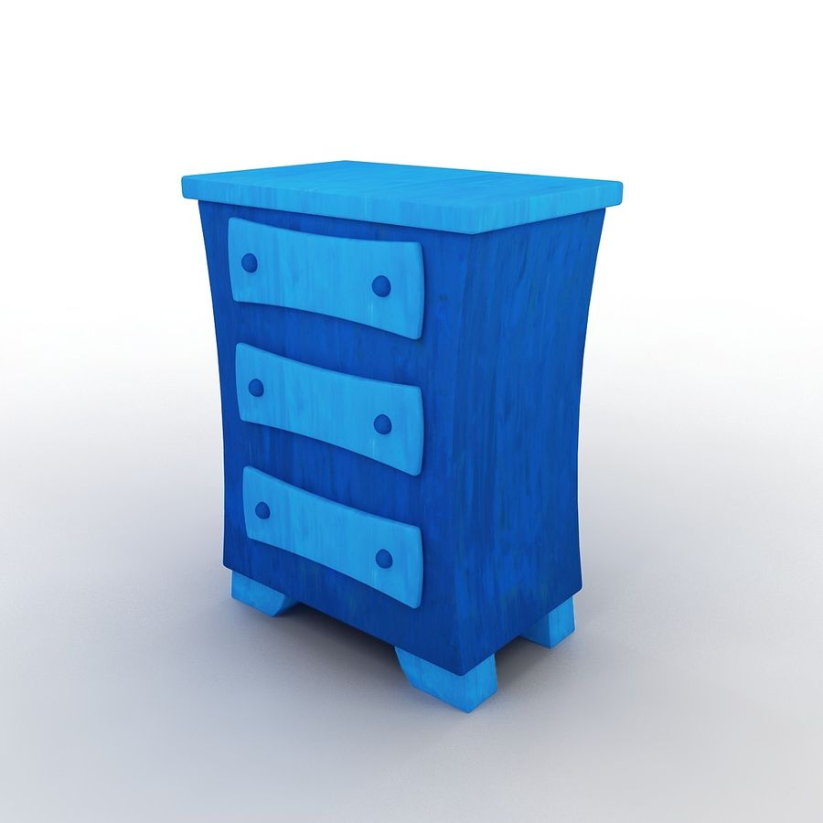Cartoon Dresser royalty-free 3d model - Preview no. 2
