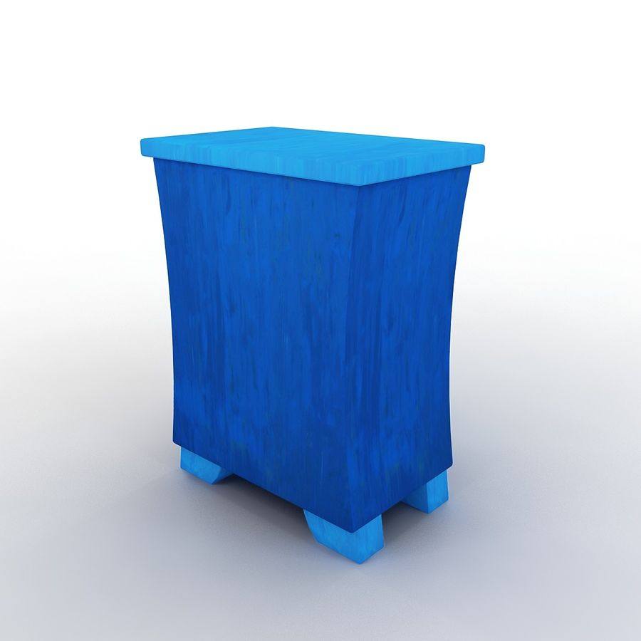 Cartoon Dresser royalty-free 3d model - Preview no. 4