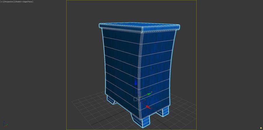 Cartoon Dresser royalty-free 3d model - Preview no. 8