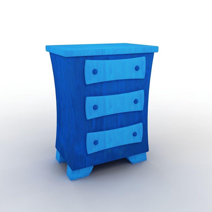 Cartoon Dresser royalty-free 3d model - Preview no. 1