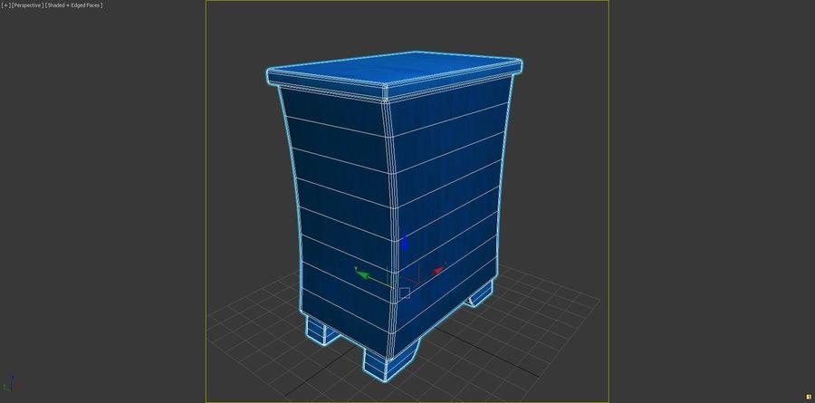 Cartoon Dresser royalty-free 3d model - Preview no. 7