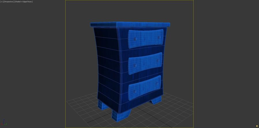 Cartoon Dresser royalty-free 3d model - Preview no. 5