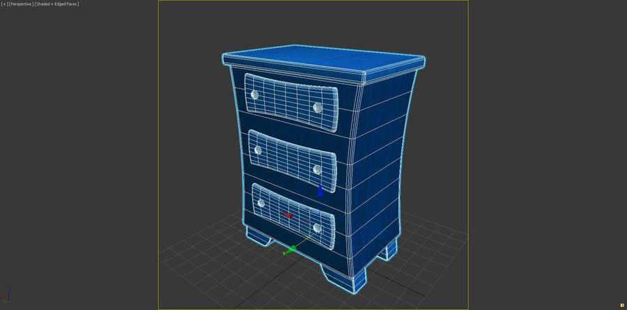 Cartoon Dresser royalty-free 3d model - Preview no. 6