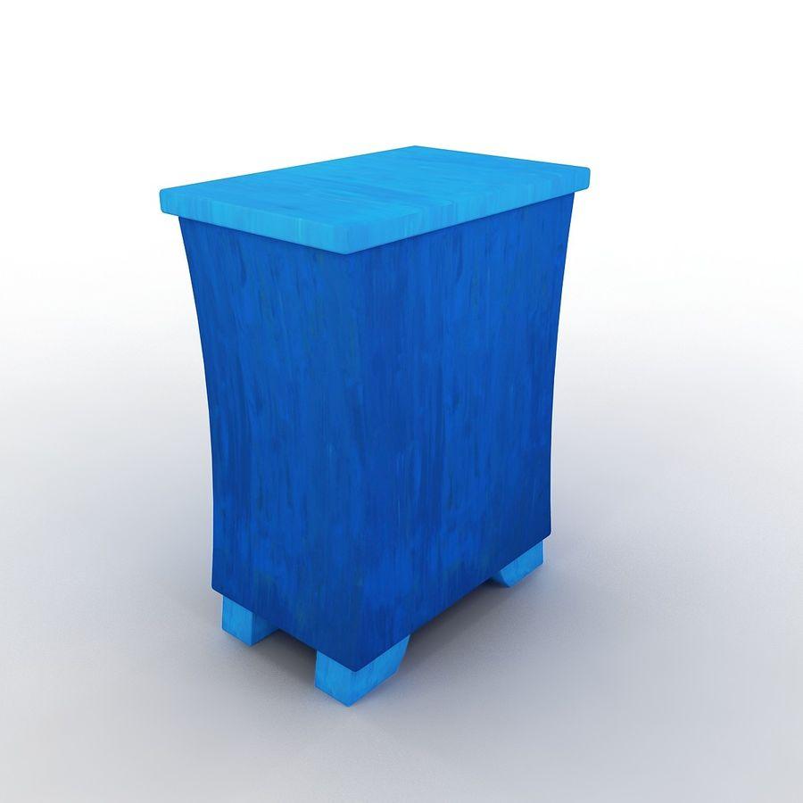 Cartoon Dresser royalty-free 3d model - Preview no. 3