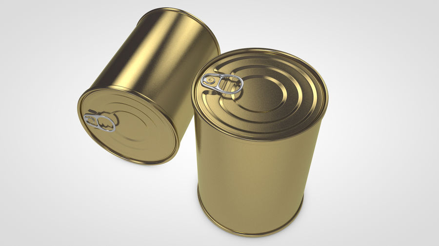 Dog Food Tin royalty-free 3d model - Preview no. 2
