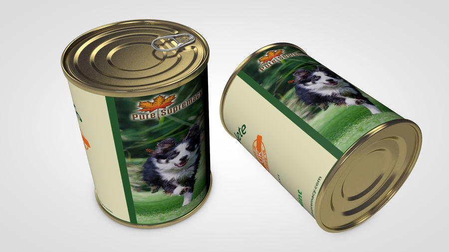 Dog Food Tin royalty-free 3d model - Preview no. 4