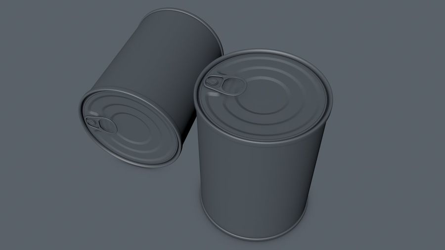 Dog Food Tin royalty-free 3d model - Preview no. 7