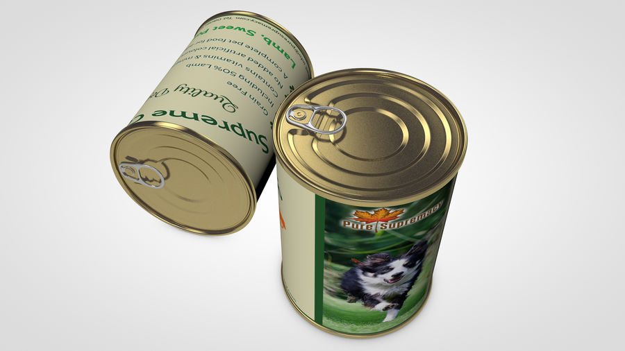 Dog Food Tin royalty-free 3d model - Preview no. 9