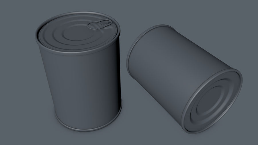 Dog Food Tin royalty-free 3d model - Preview no. 5