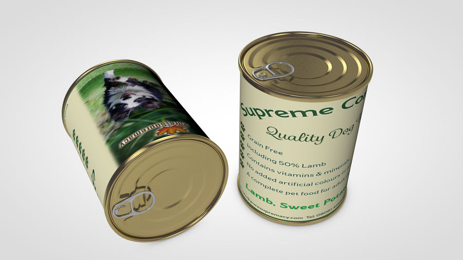 Dog Food Tin royalty-free 3d model - Preview no. 3