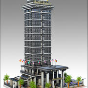 Hotel Tower Building 3d model