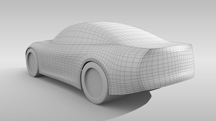 Variante di layout FR Base Car 3 royalty-free 3d model - Preview no. 5