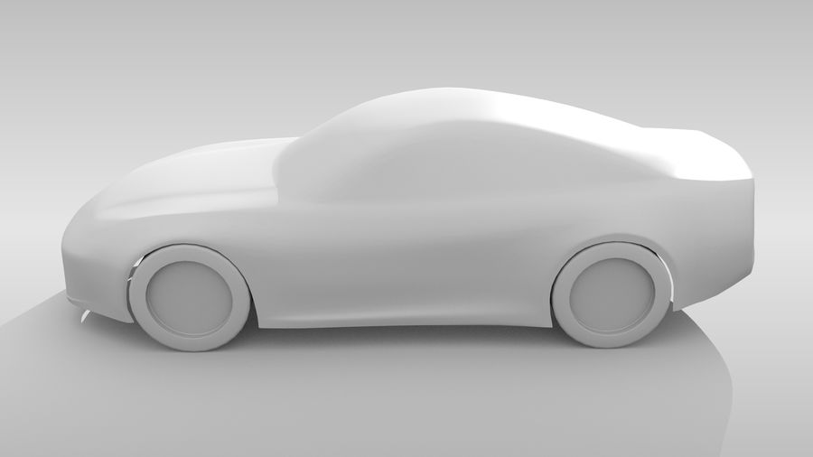 Variante di layout FR Base Car 3 royalty-free 3d model - Preview no. 10