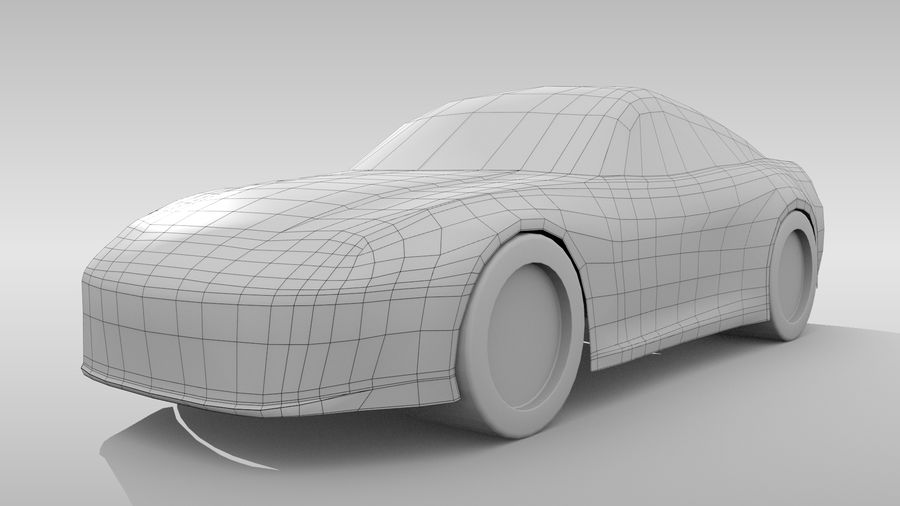 Variante di layout FR Base Car 3 royalty-free 3d model - Preview no. 3