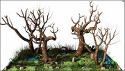 Tetric Death Trees 3d model