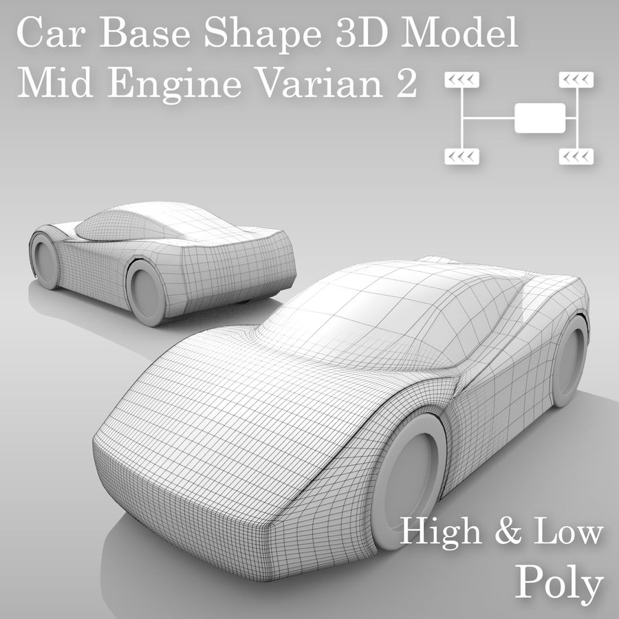 Variante di layout MR Base Car 2 royalty-free 3d model - Preview no. 1