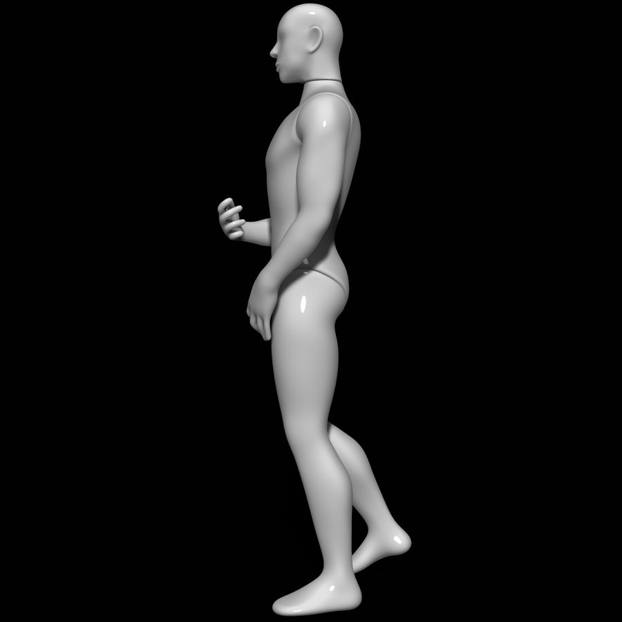 Mannequin man royalty-free 3d model - Preview no. 7