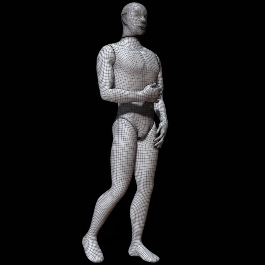 Mannequin man royalty-free 3d model - Preview no. 13
