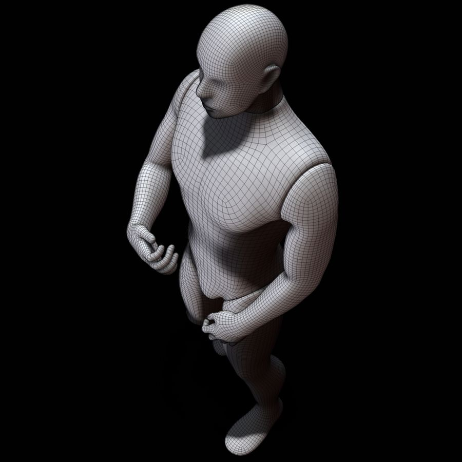 Mannequin man royalty-free 3d model - Preview no. 20