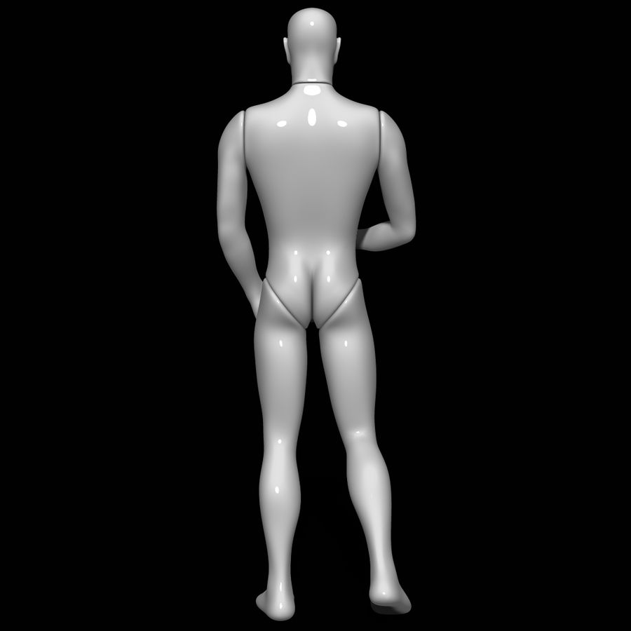 Mannequin man royalty-free 3d model - Preview no. 5
