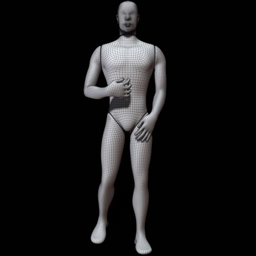 Mannequin man royalty-free 3d model - Preview no. 12