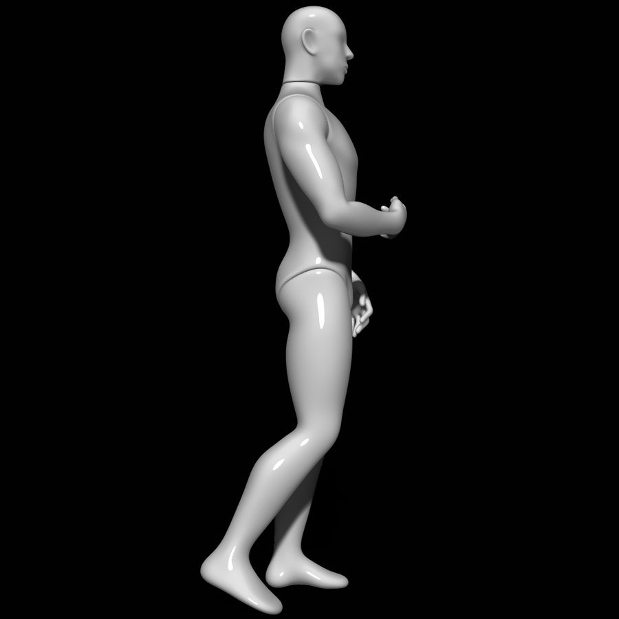 Mannequin man royalty-free 3d model - Preview no. 3