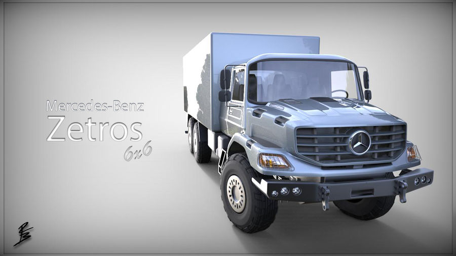 Merecedes ZETROS 6x6 royalty-free 3d model - Preview no. 13