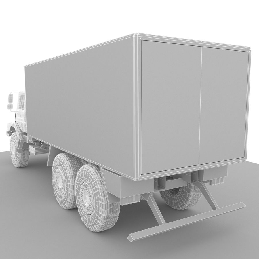 Merecedes ZETROS 6x6 royalty-free 3d model - Preview no. 6