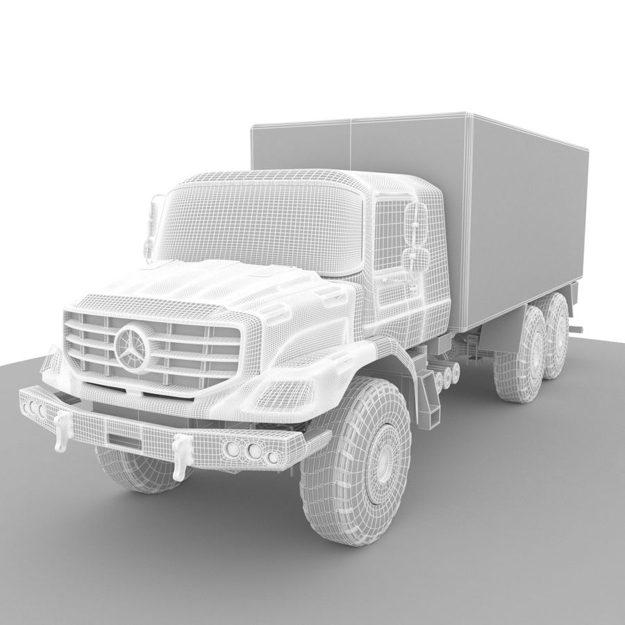 Merecedes ZETROS 6x6 royalty-free 3d model - Preview no. 5