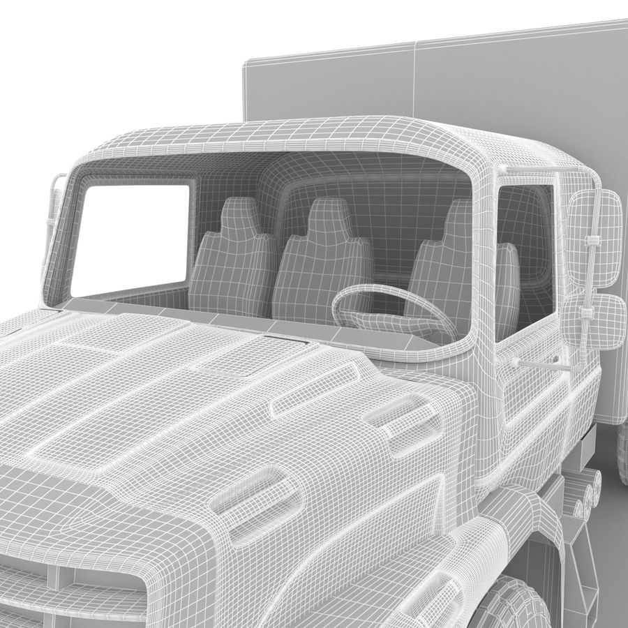 Merecedes ZETROS 6x6 royalty-free 3d model - Preview no. 9