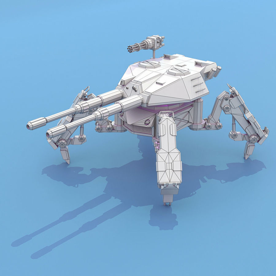 Spider Tank royalty-free 3d model - Preview no. 9