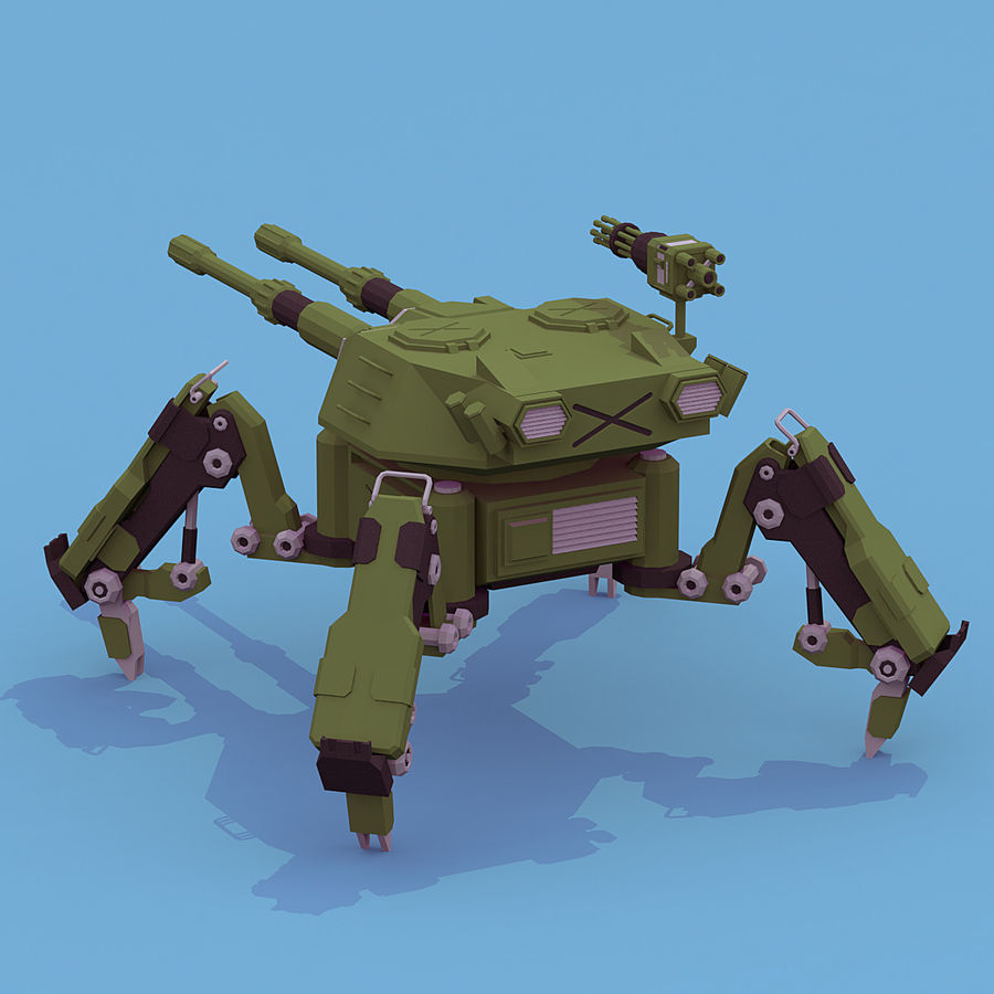 Spider Tank royalty-free 3d model - Preview no. 4