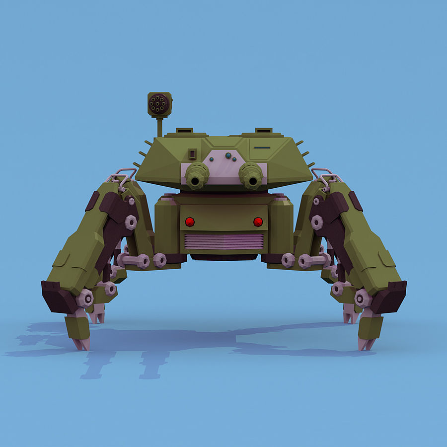 Spider Tank royalty-free 3d model - Preview no. 6