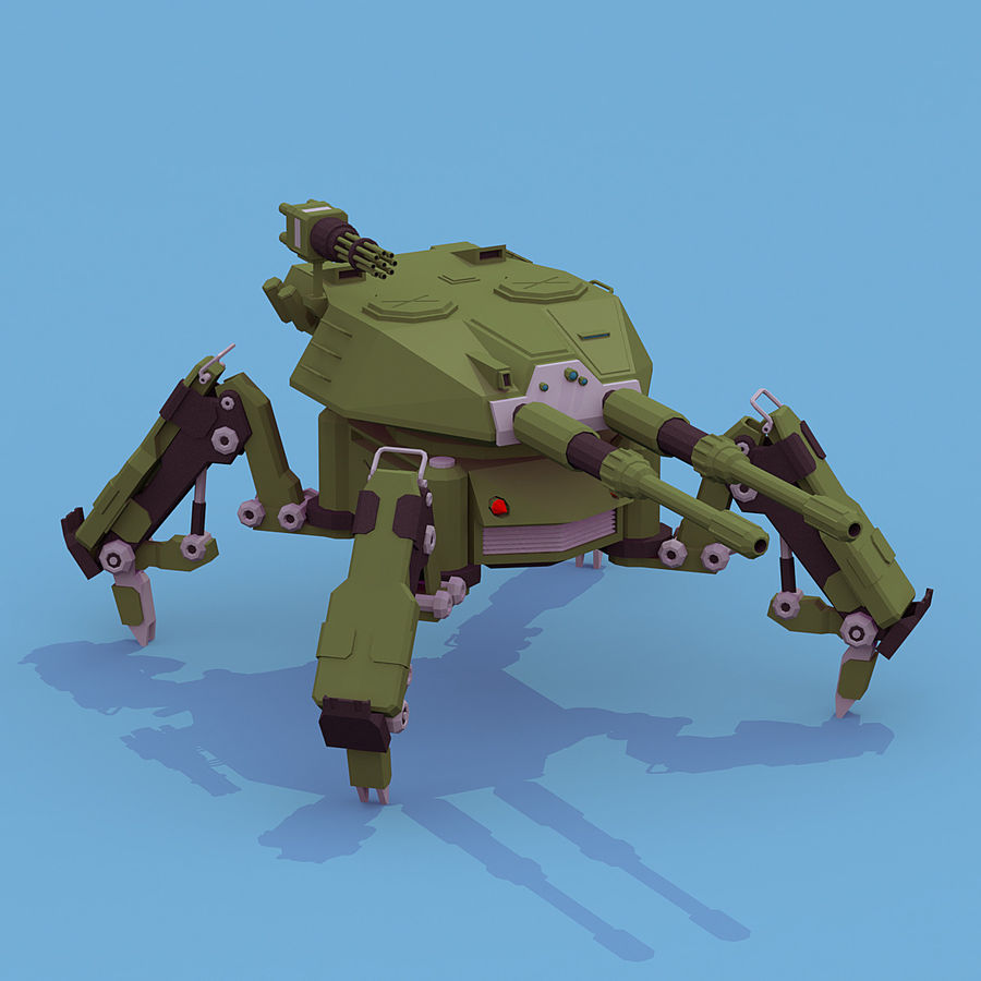 Spider Tank royalty-free 3d model - Preview no. 3