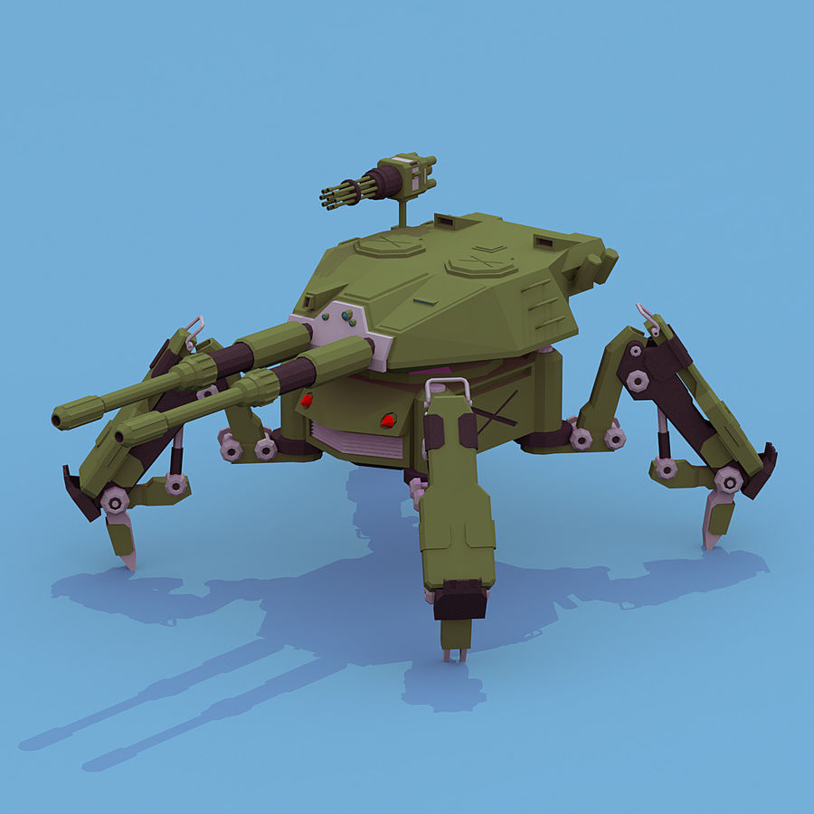 Spider Tank royalty-free 3d model - Preview no. 1