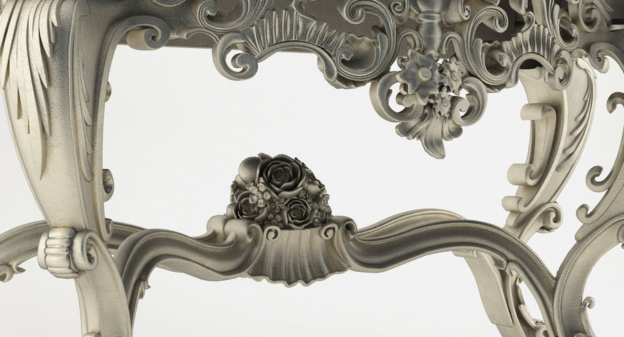 Baroque console table royalty-free 3d model - Preview no. 7