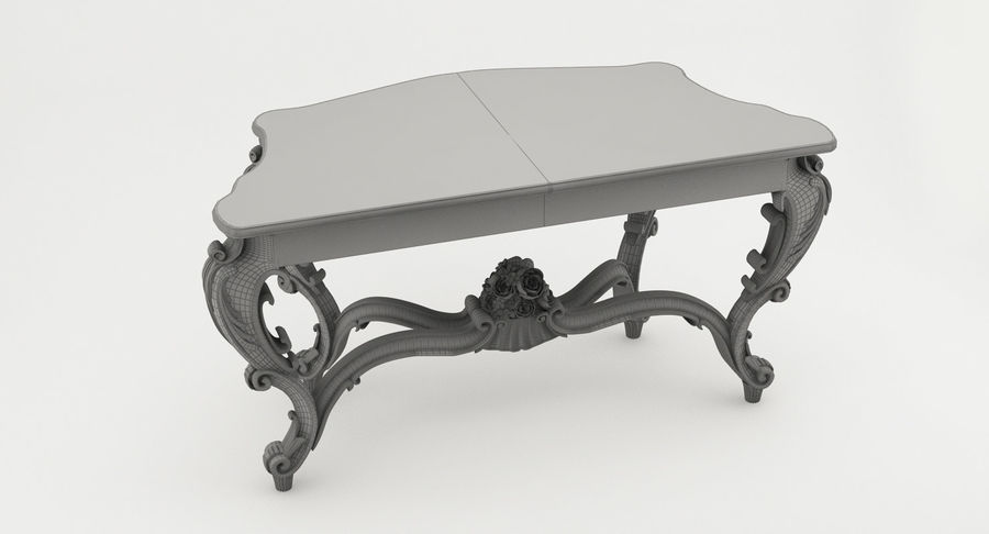 Baroque console table royalty-free 3d model - Preview no. 9