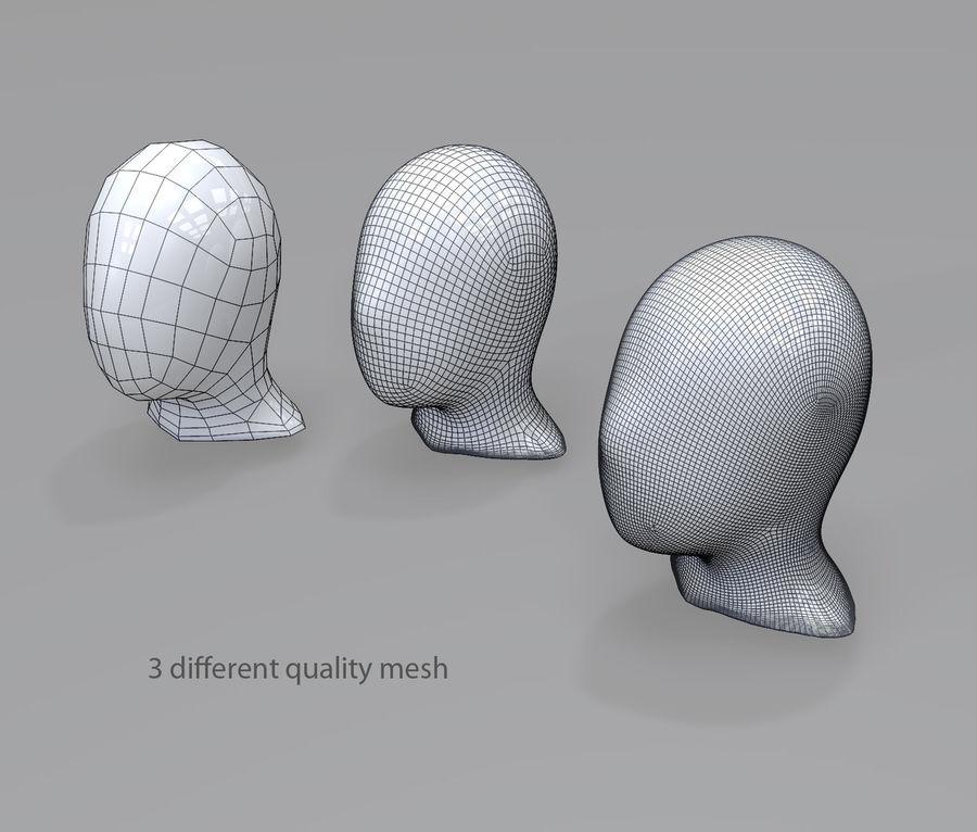 머리 시작 문자 3 메시 royalty-free 3d model - Preview no. 3