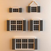 Windows 5 Different Types Detailed 3d model