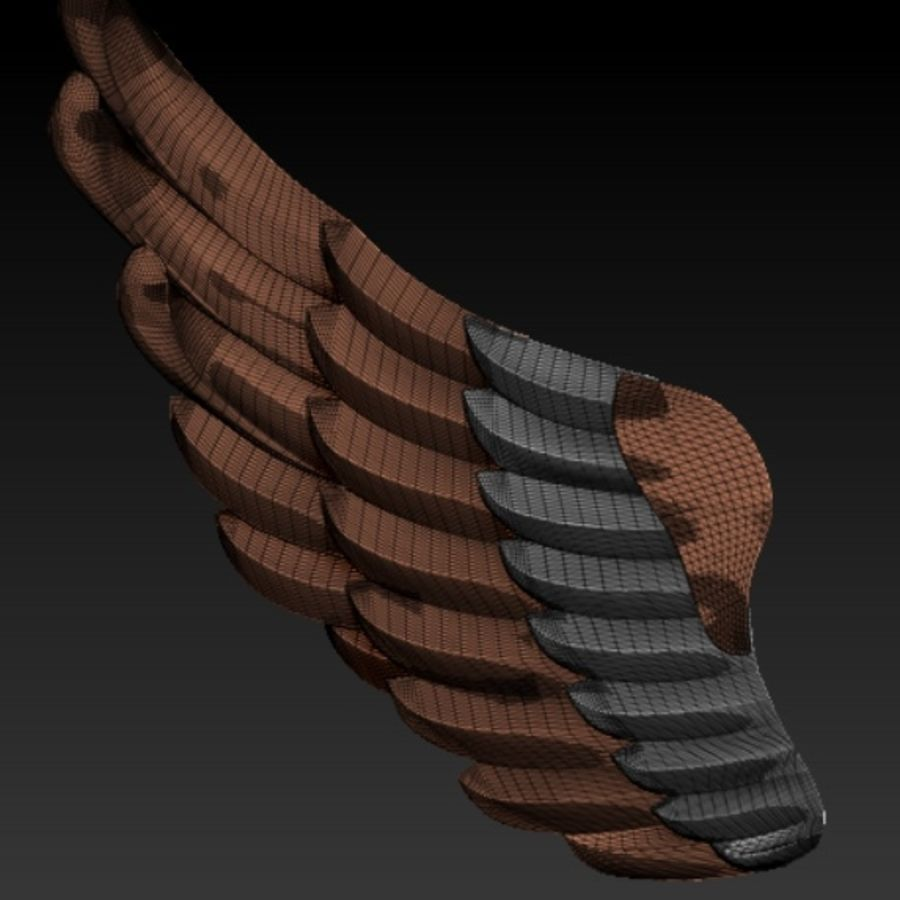 Wings royalty-free 3d model - Preview no. 2
