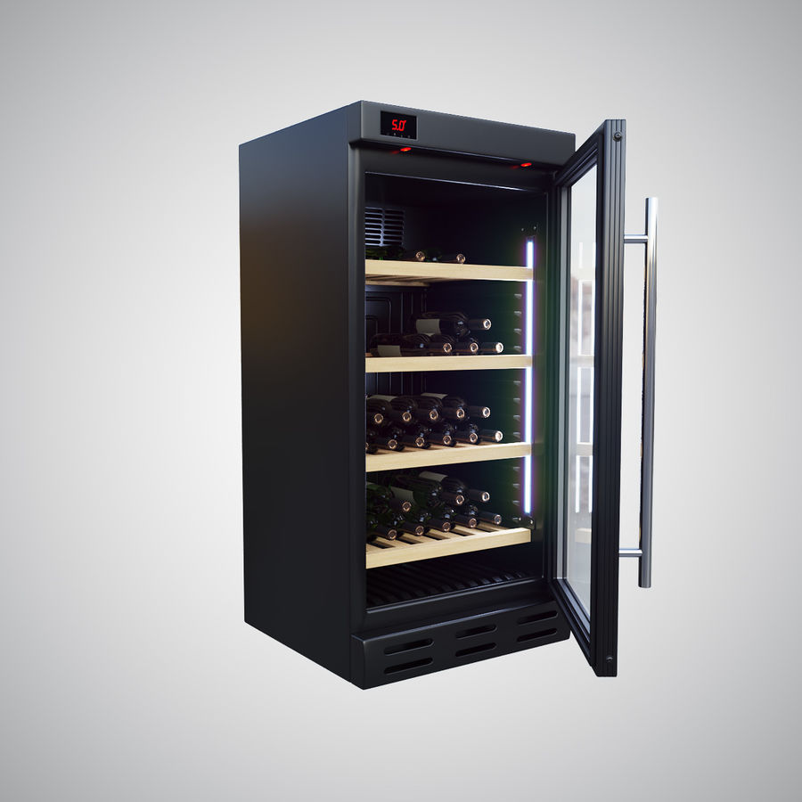 Wine Fridge royalty-free 3d model - Preview no. 2