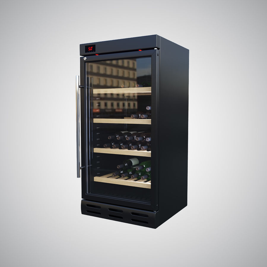 Wine Fridge royalty-free 3d model - Preview no. 3